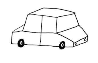 Auto na šerm