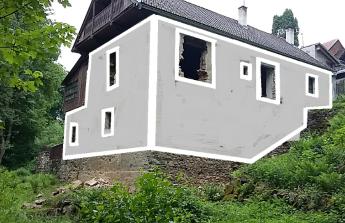 Fasáda pro stary mlyn na Slapech