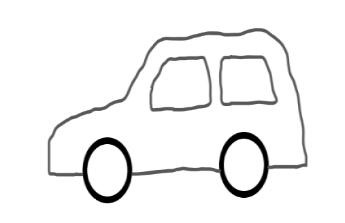 Malé šedé autíčko