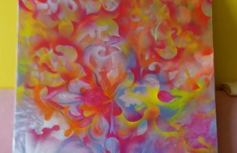 Nákup pláten, barev, materiálů pro mou tvorbu.