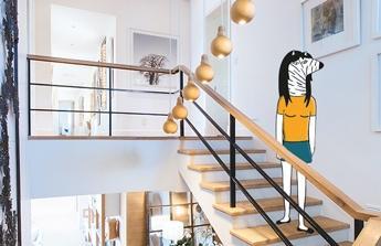 Na nové schody a dokončení domku
