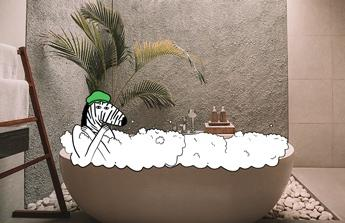 Koupelnu a předsíň