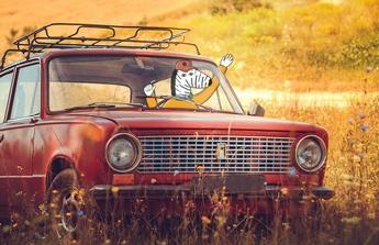 Starší auto pro zdravotní sestřičku