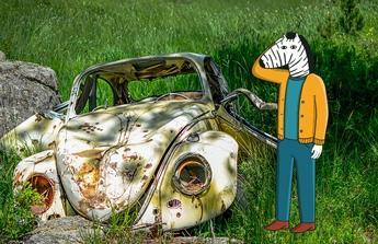 Opravu havarovaného auta