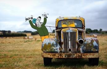 Na opravu auta