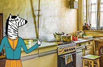 kuchyn,ojeté auto pro syna